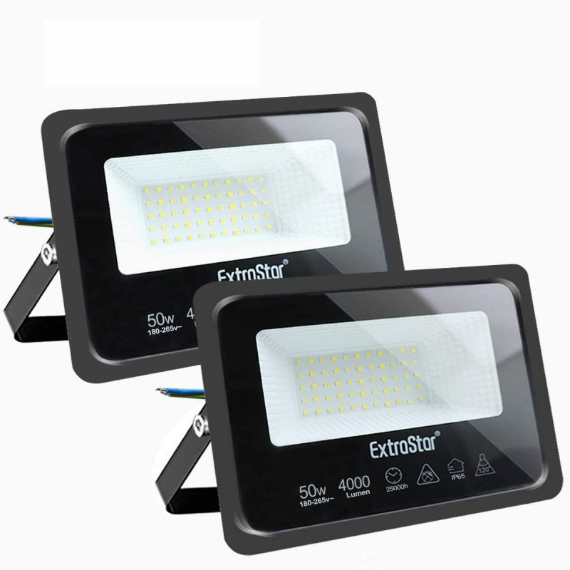 Extrastar Pack 2 Focos LED de Exterior 50WBlanco Frío