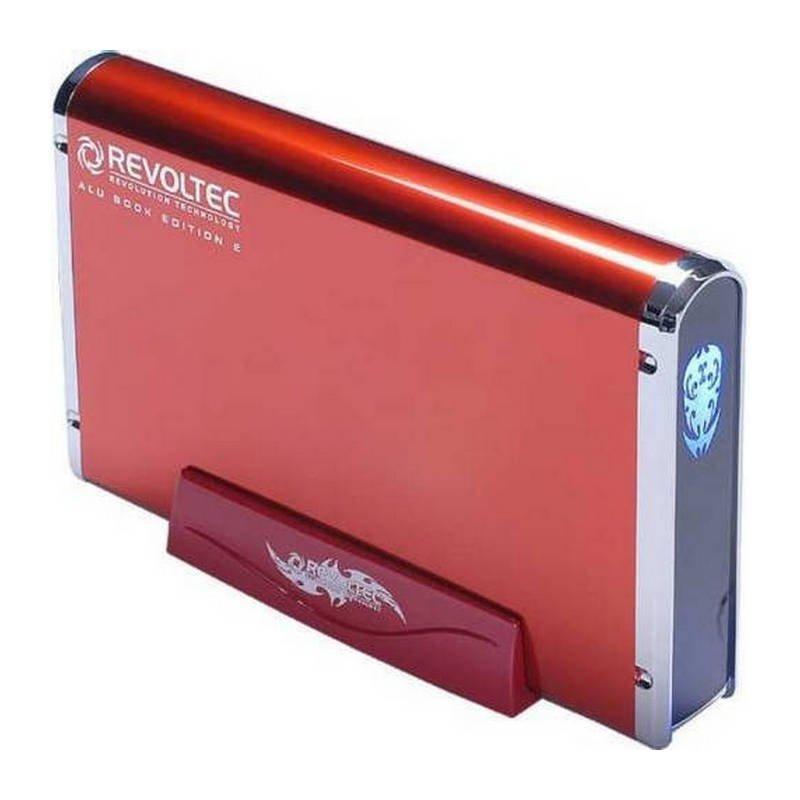 """Revoltec AluBook 2 Carcasa Disco Duro 3.5"""" SATA a USB 2.0 Roja"""