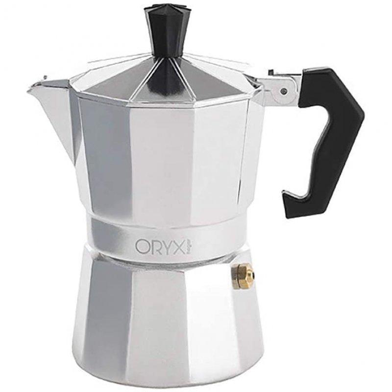 Oryx Classic Cafetera Italiana 3 Tazas Plata