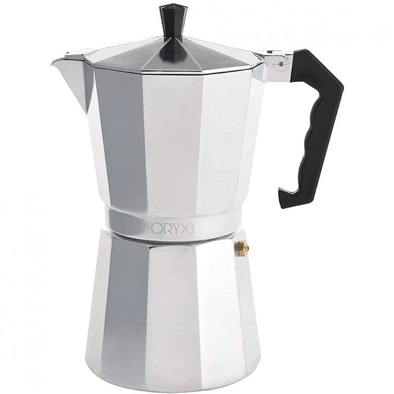 Oryx Classic Cafetera Italiana 9 Tazas Plata