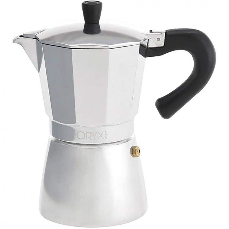 Oryx Cafetera Italiana 6 Tazas Plata