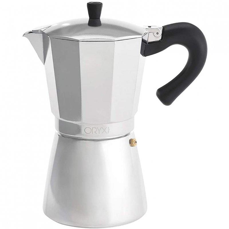 Oryx Cafetera Italiana 12 Tazas Plata