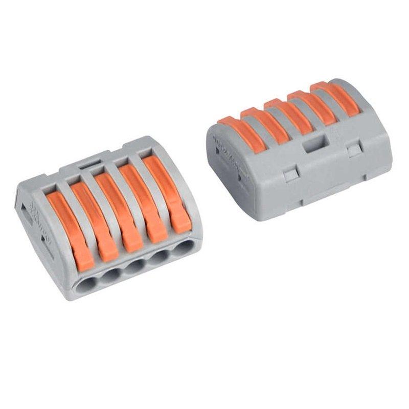 Wolfpack Caja de 12 Regletas para Conexión de Cables Eléctricos 32A 4mm Gris