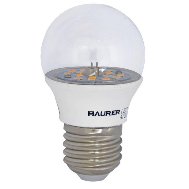 Maurer Bombilla LED Transparente 5W E27 Blanco Cálido