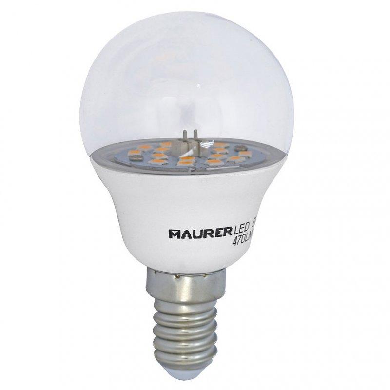 Maurer Bombilla Transparente LED 5W E14 Blanco Cálido