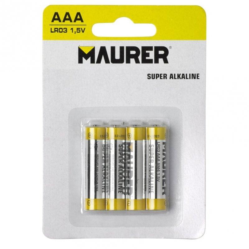 Maurer Pack 4 Pilas Alcalinas AAA LR03 1.5V