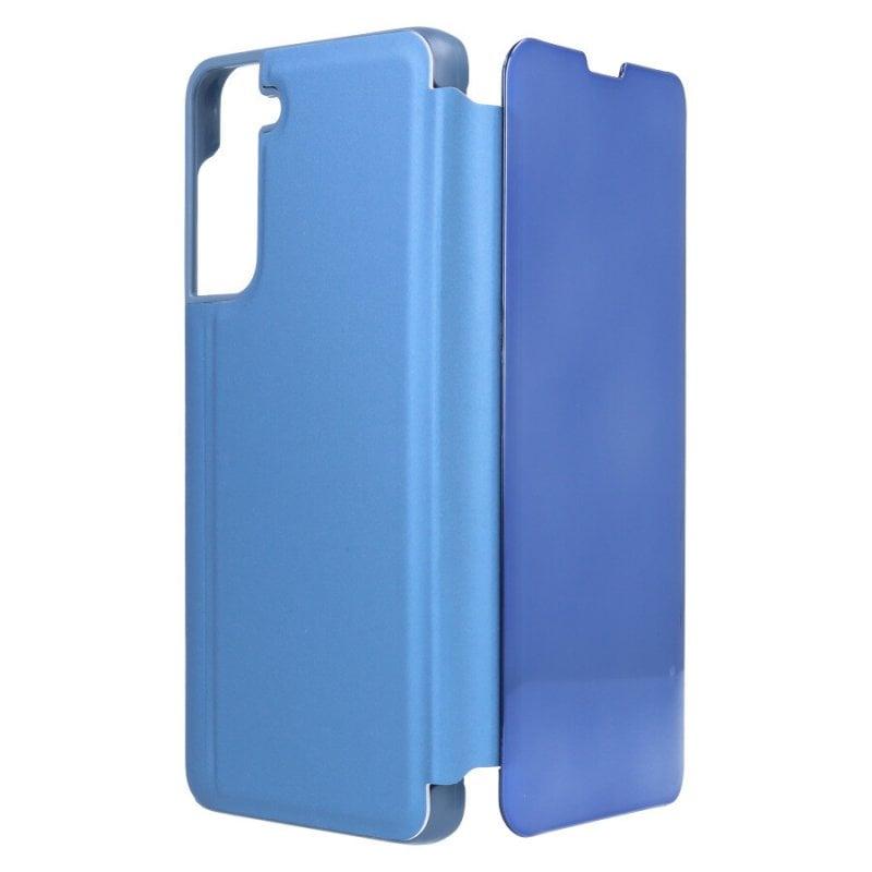 Funda Libro Espejo Azul Para Samsung Galaxy S21 Plus