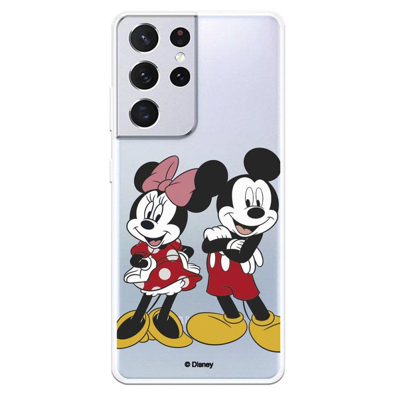Funda Oficial de Disney Mickey y Minnie Posando Clásicos Disney para Samsung Galaxy S21 Ultra