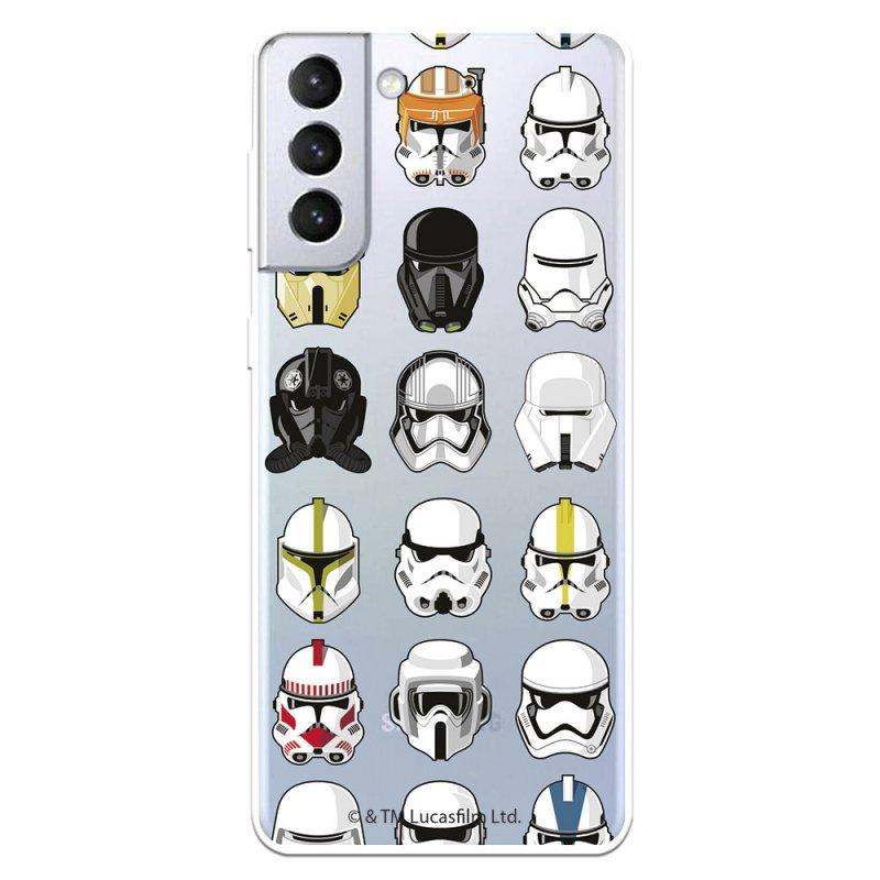 Funda Oficial de Star Wars Patrón Cascos Star Wars para Samsung Galaxy S21 Plus