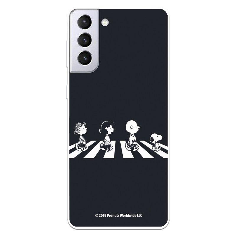 Funda Oficial de Peanuts Personajes Beatles Snoopy para Samsung Galaxy S21 Plus