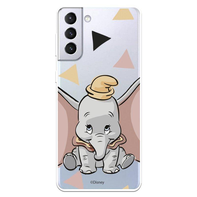 Funda Oficial De Disney Dumbo Silueta Transparente Dumbo Para Samsung Galaxy S21 Plus