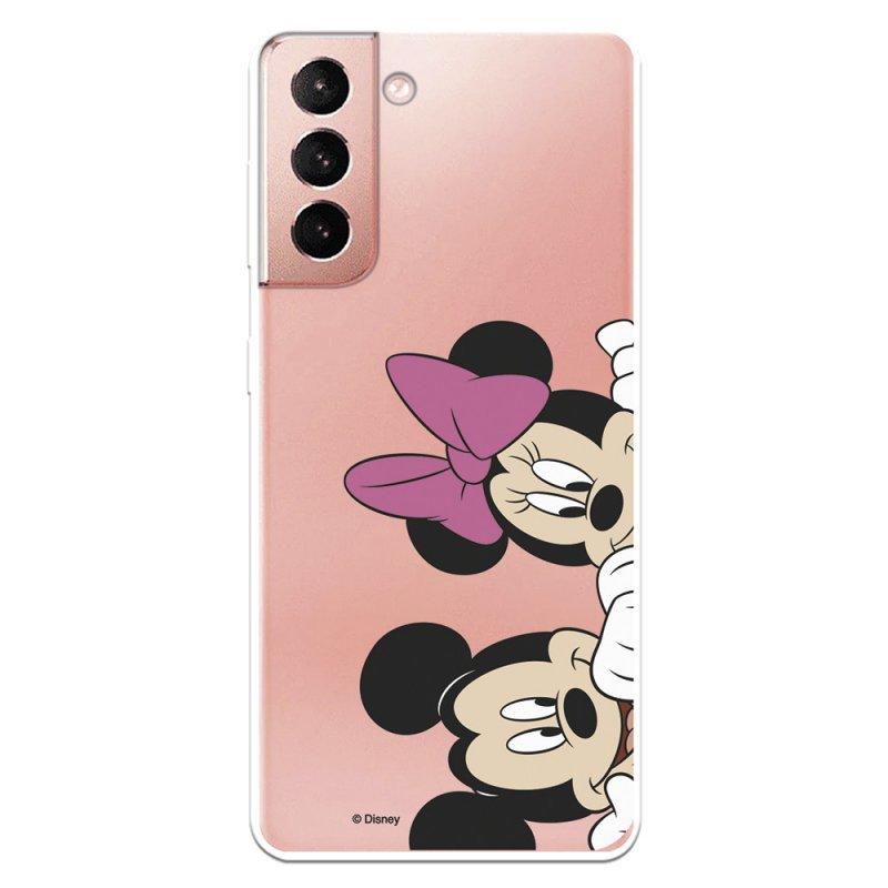 Funda Oficial de Disney Mickey y Minnie Asomados Clásicos Disney para Samsung Galaxy S21