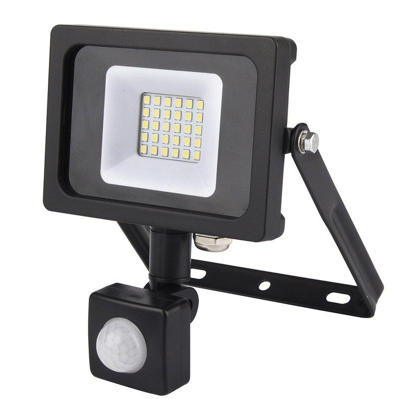 Simon Foco LED con Sensor PIR 10W Negro