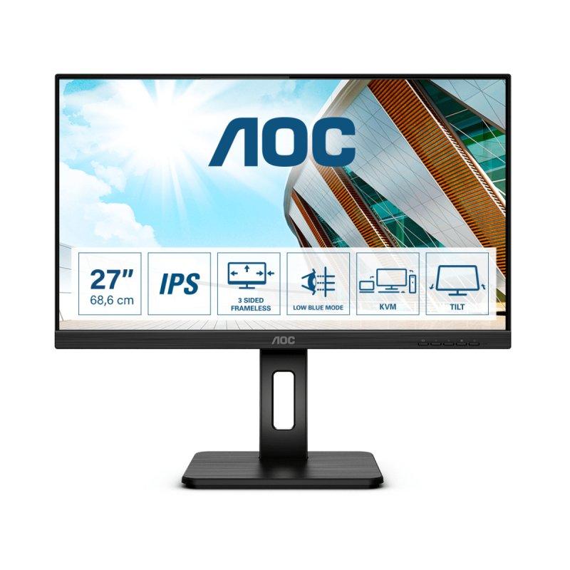 """Monitor AOC 27P2C 27"""" LED IPS FullHD FreeSync"""