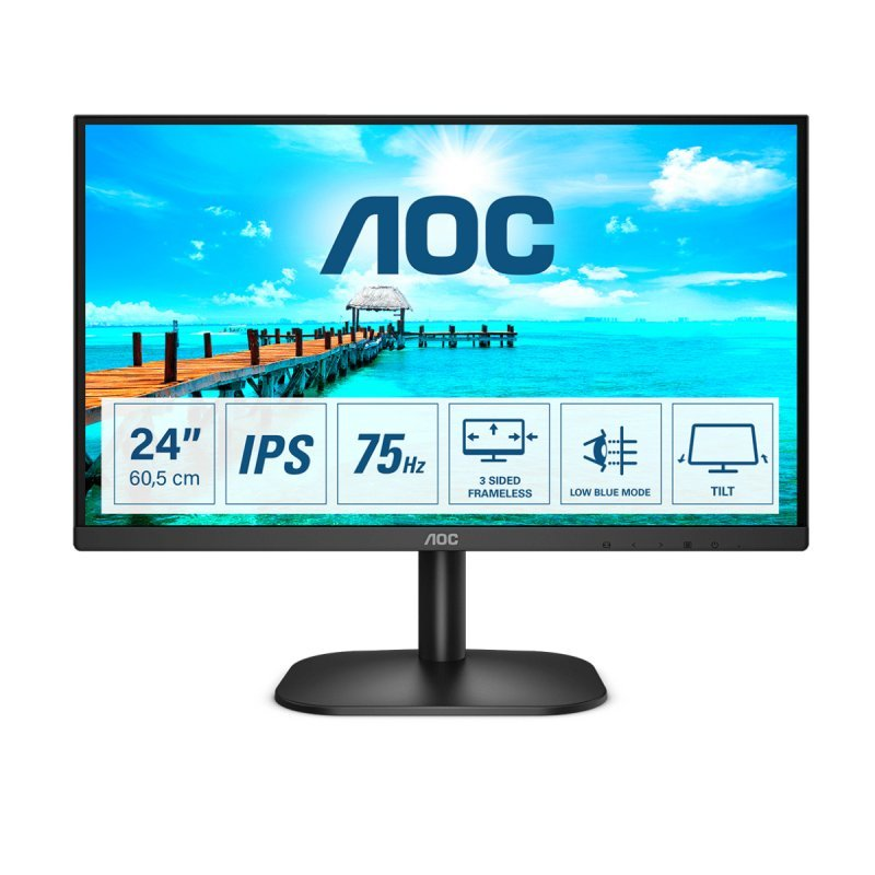 "Monitor AOC 24B2XD 23.8"" LED IPS FullHD"
