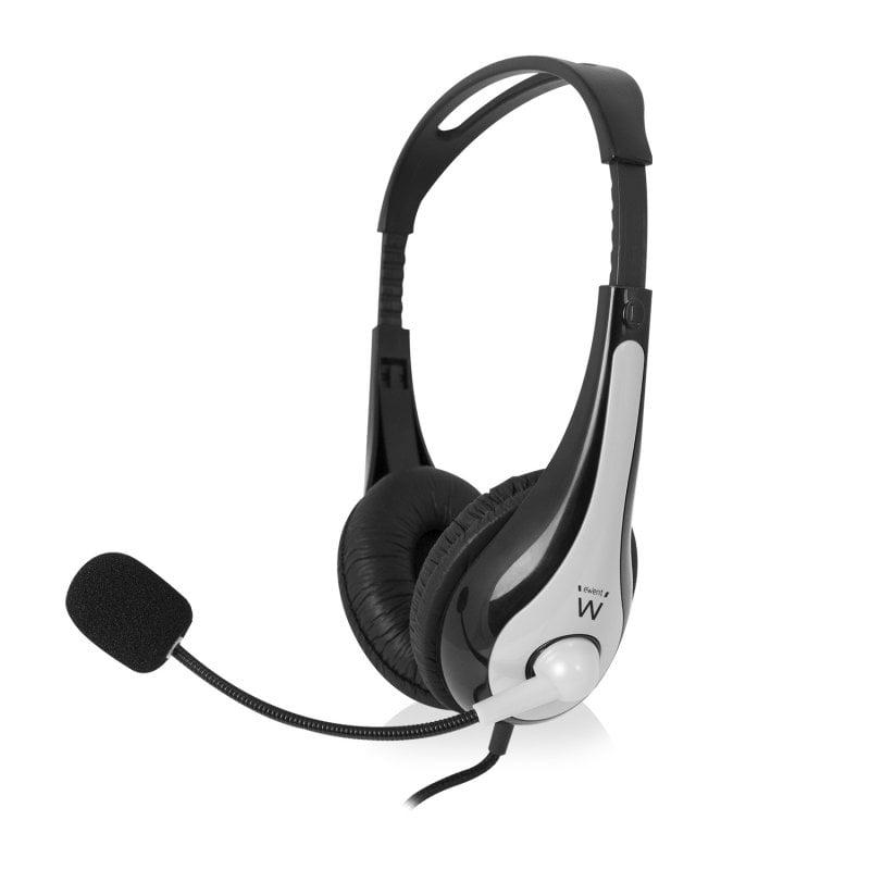 Ewent EW3562 Auriculares Estéreo con Micrófono y Control de Volumen