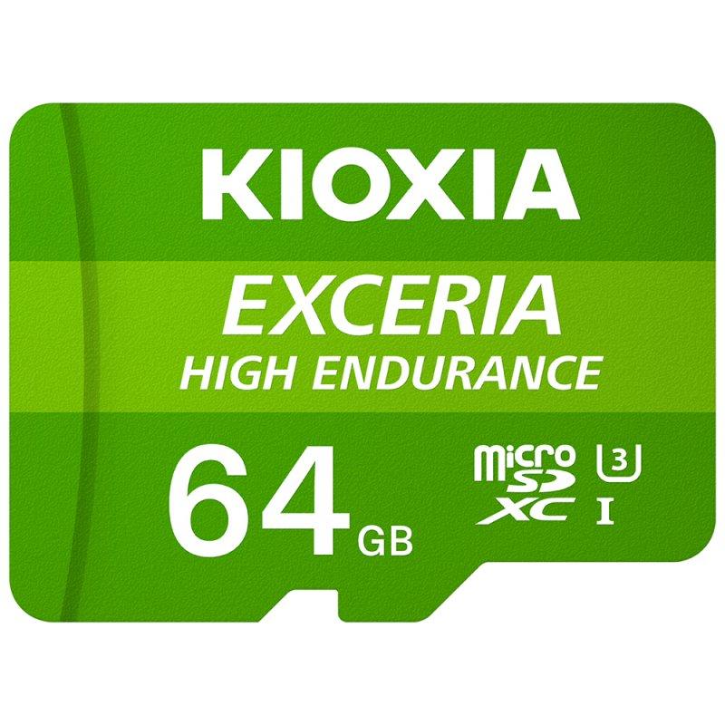 Kioxia Exceria High Endurance MicroSDXC 64GB UHS-I V30 Clase 10