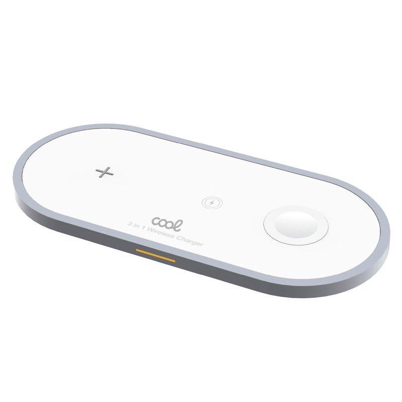 Cool Dock Cargador Inalámbrico Qi 3 en 1 Blanco