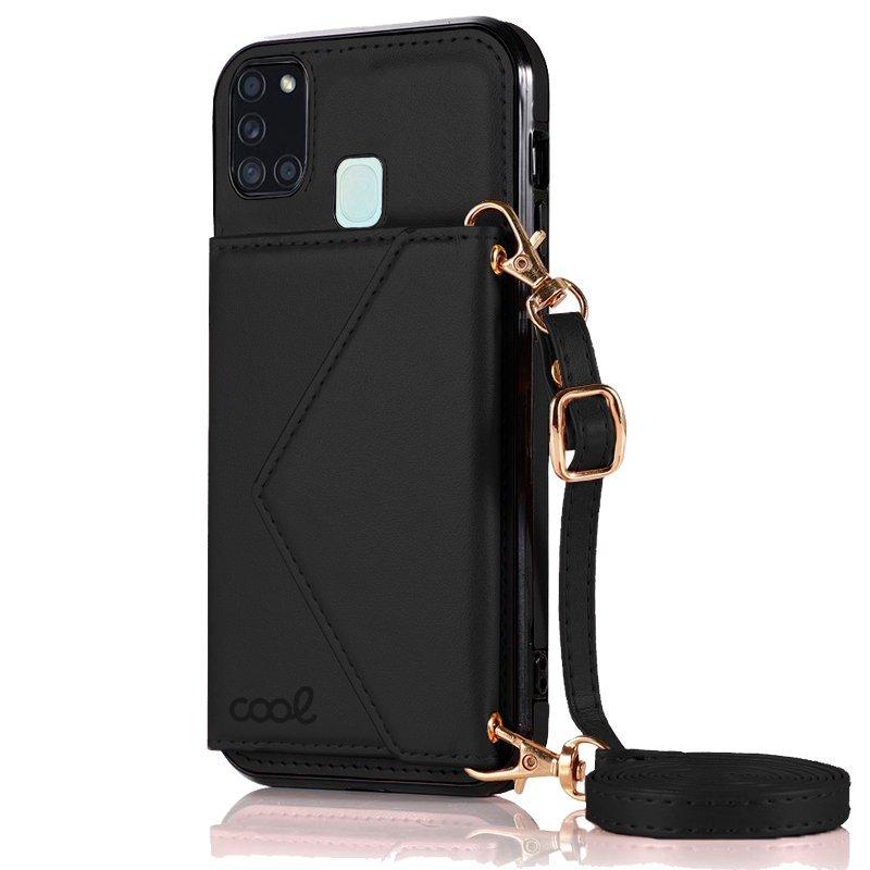 Cool Funda Colgante Wallet Negro Para Samsung Galaxy A21s