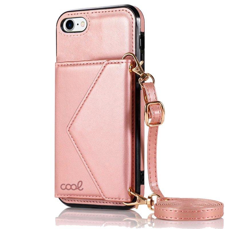 Cool Funda Colgante Wallet Rosa Para IPhone 7/8/SE 2020