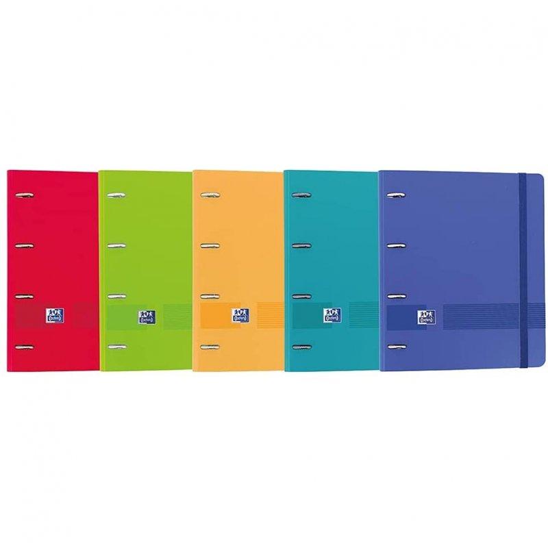 Oxford Live & Go EuropeanBinder Pack 5 Archivadores con Recambio A4+ Colores Vivos