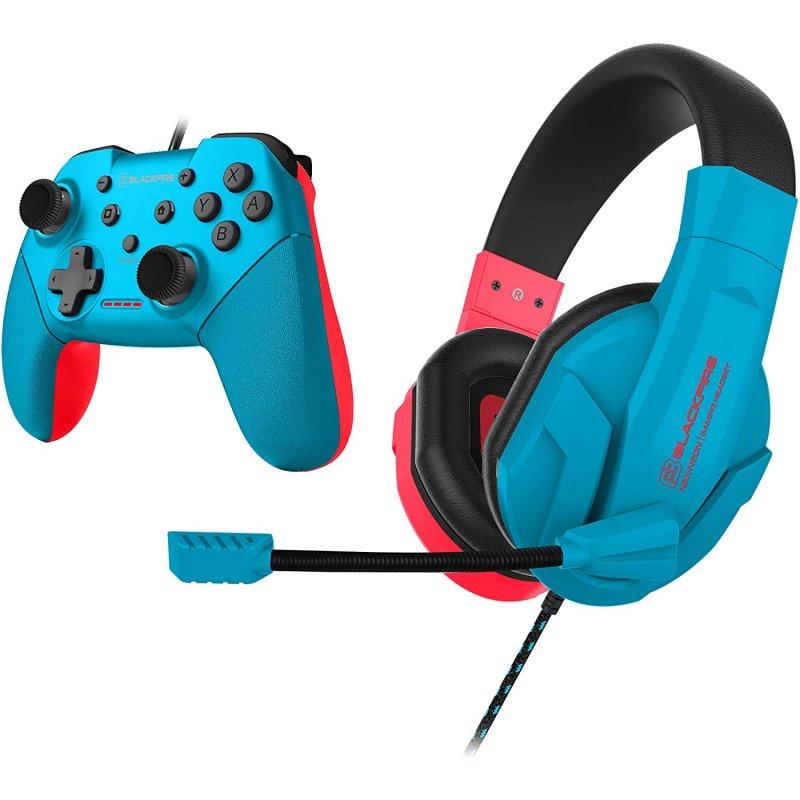 Blackfire Pack Neon Headseat + Controller para Nintendo Switch