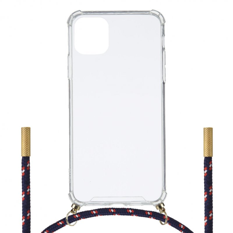 Funda Silicona Colgante Transparente Tricolor Para IPhone 11