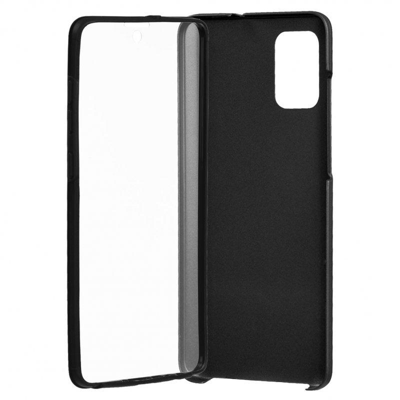 Funda Cromada con Tapa Negra para Samsung Galaxy A51
