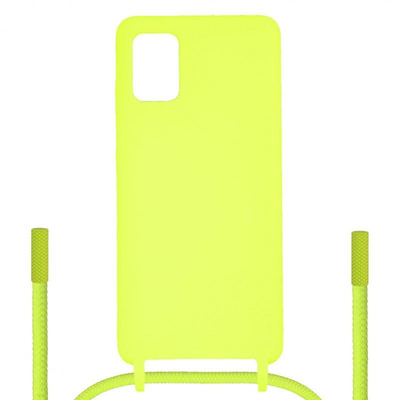 Funda Ultra Suave Colgante Amarilla Para Samsung Galaxy A51