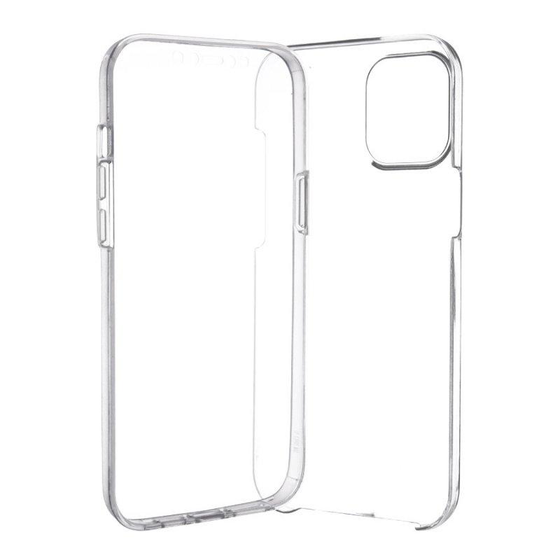 Funda Cromada con Tapa Transparente para iPhone 12