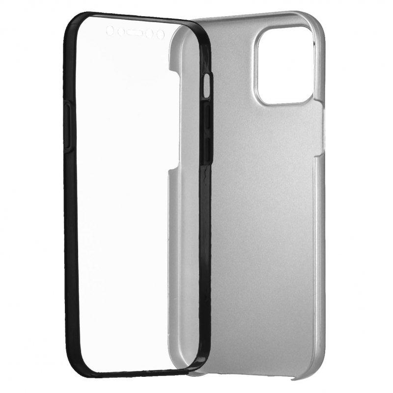 Funda Cromada con Tapa Plata para iPhone 12