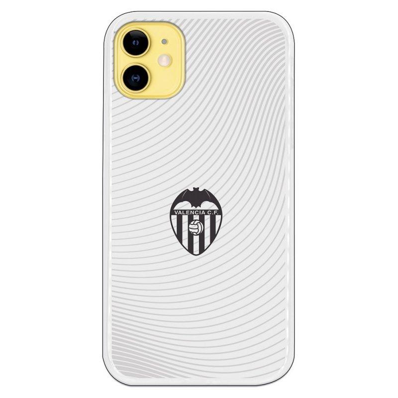 Funda Oficial Valencia CF del Valencia Escudo Negro Fondo Blanco para iPhone 11