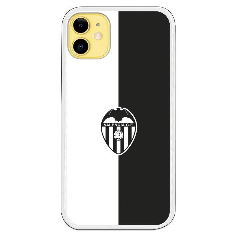 Funda Oficial Valencia CF Del Valencia Bicolor Escudo Negro Para IPhone 11