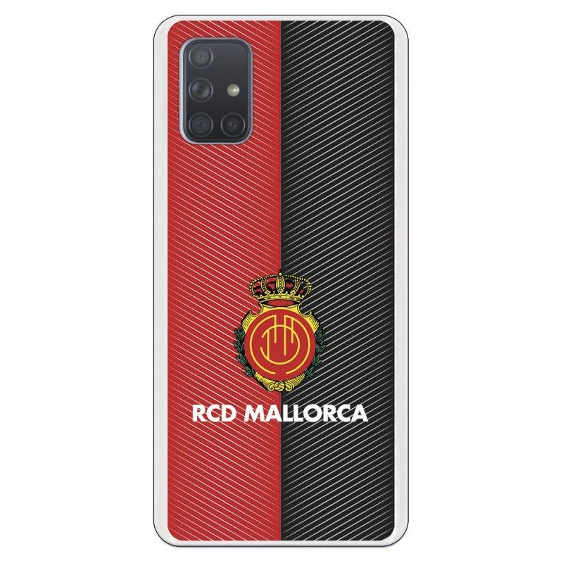 Funda Oficial RCD Mallorca del Mallorca RCD Diagonales Transparente para Samsung Galaxy A71