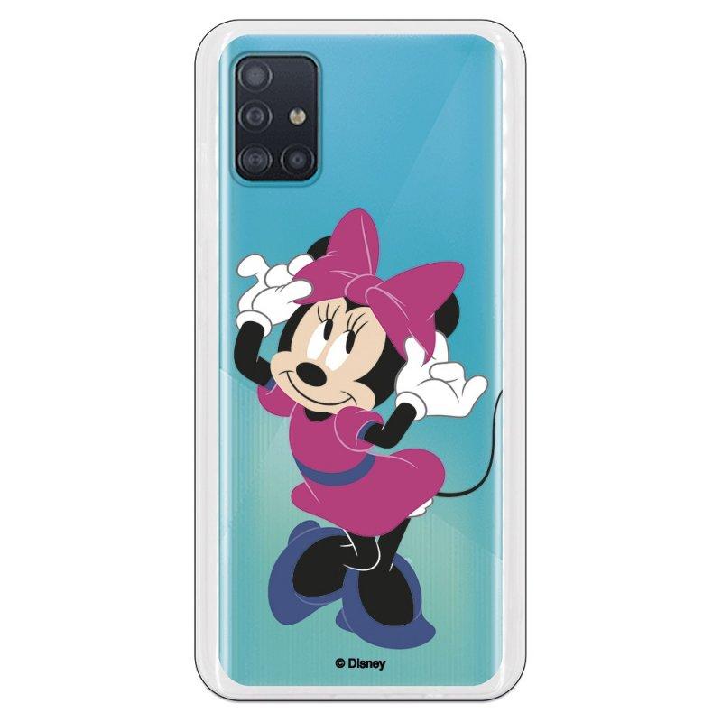 Funda Oficial de Disney Minnie Rosa Clásicos Disney para Samsung Galaxy A51