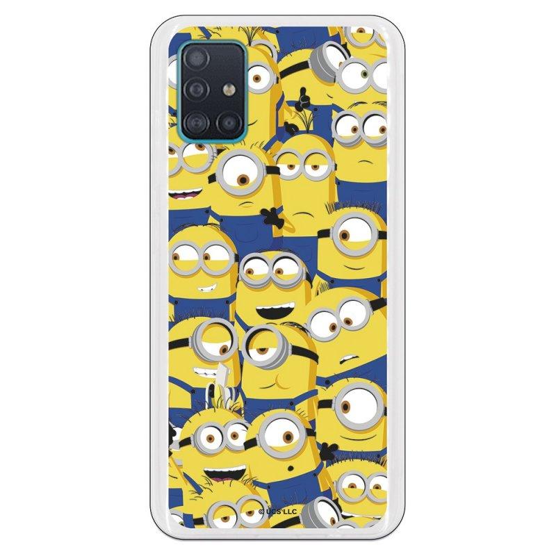 Funda Oficial de Universal Los Minions Caras Los Minions para Samsung Galaxy A51