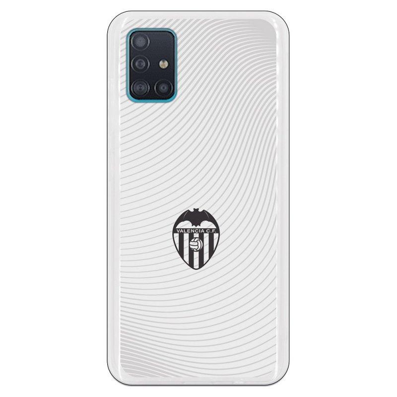 Funda Oficial Valencia CF del Valencia Escudo Negro Fondo Blanco para Samsung Galaxy A51