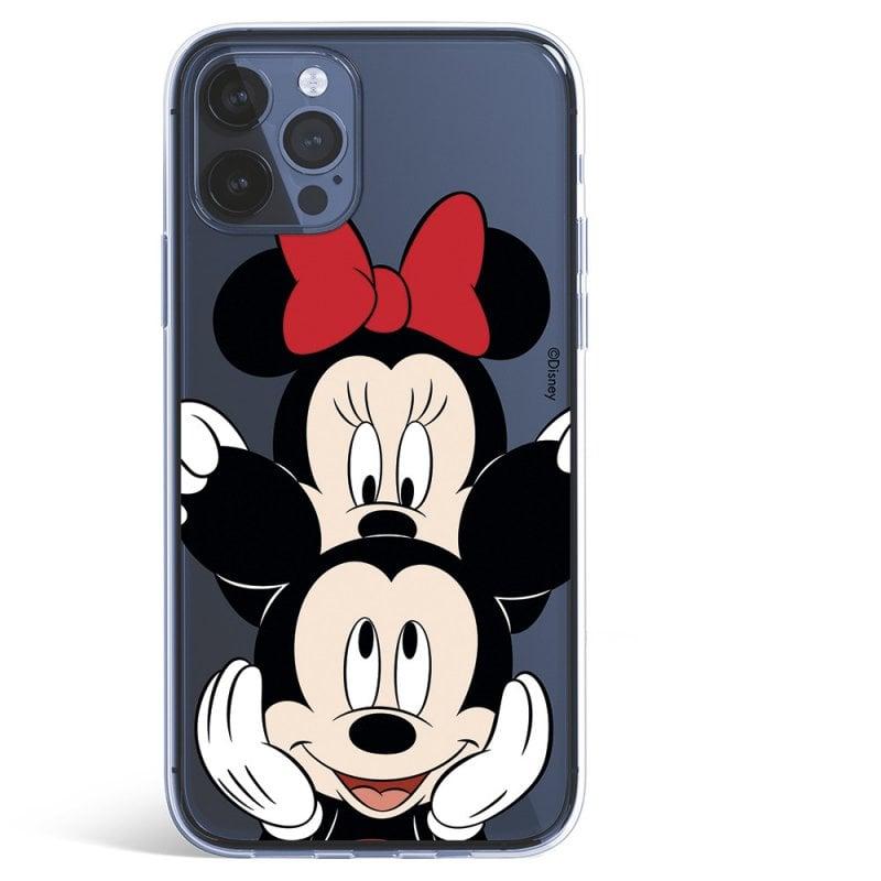 Funda Oficial De Disney Mickey Y Minnie Fondo Negro Clásicos Disney Para IPhone 12 Pro Max