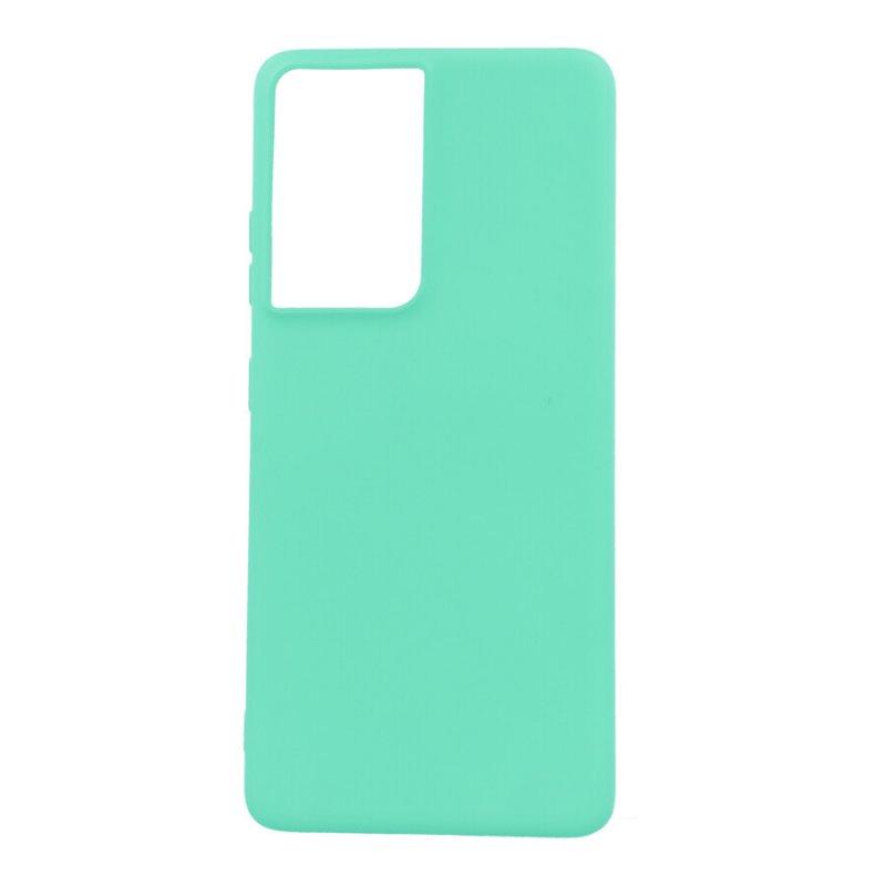 Funda Ultra Suave Verde Menta para Samsung Galaxy S21 Ultra