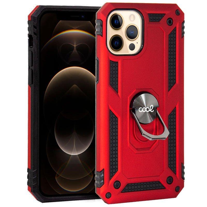 Cool Funda Hard Roja Con Anilla Para IPhone 12 Pro Max