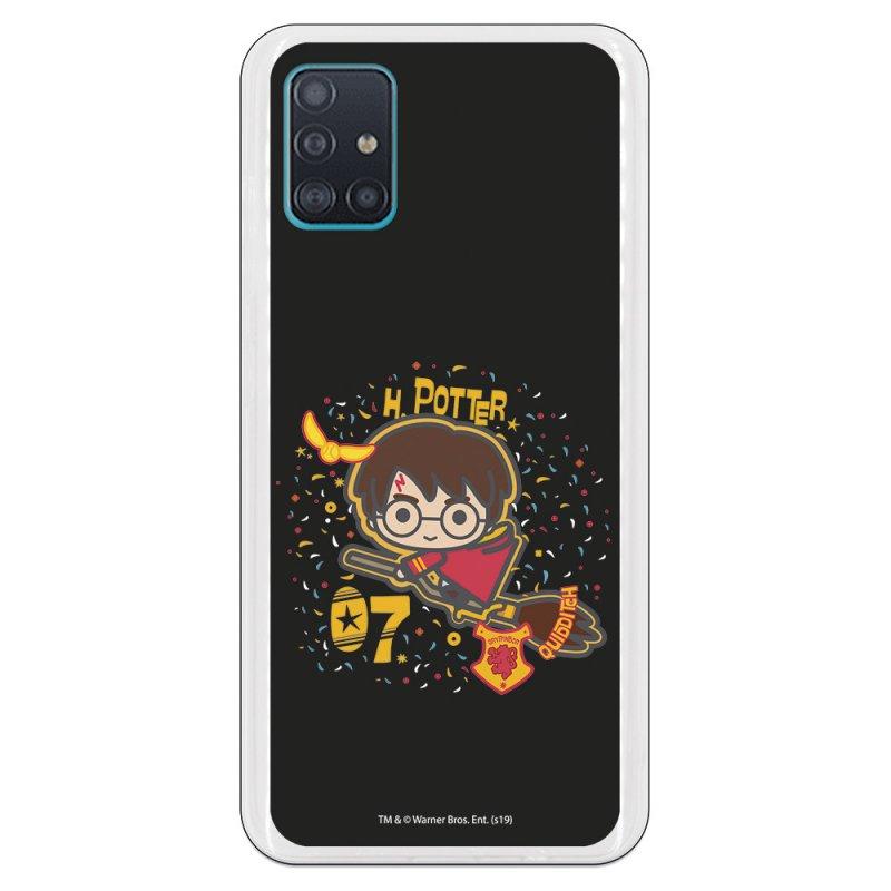 Funda Oficial de Harry Potter Harry Fondo Negro Harry Potter para Samsung Galaxy A51 5G