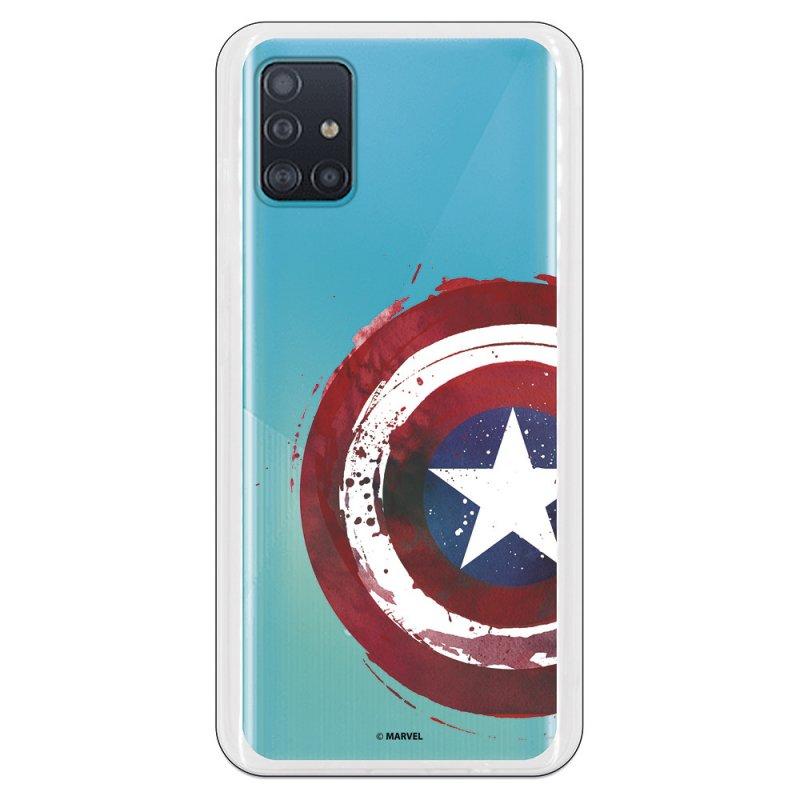 Funda Oficial de Marvel Capitán América Escudo Transparente Marvel para Samsung Galaxy A51 5G