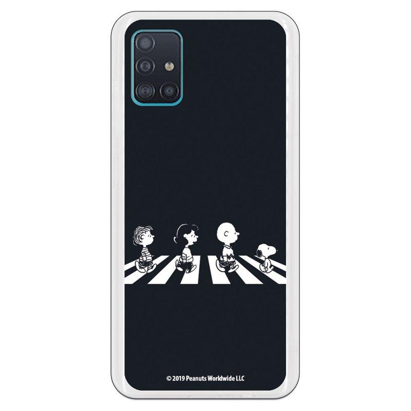 Funda Oficial de Peanuts Personajes Beatles Snoopy para Samsung Galaxy A51 5G
