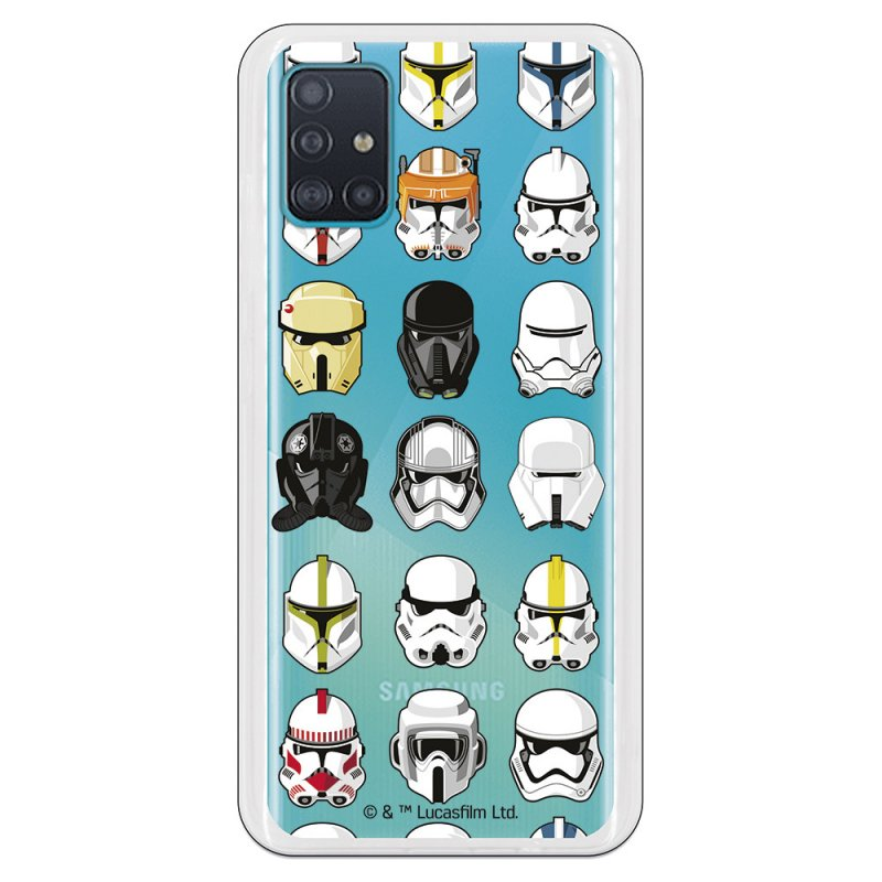 Funda Oficial de Star Wars Patrón Cascos Star Wars para Samsung Galaxy A51 5G