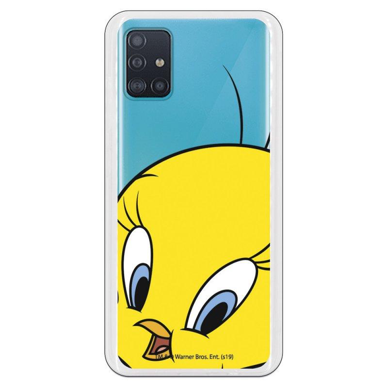 Funda Oficial de Warner Bros Piolín Silueta Transparente Looney Tunes para Samsung Galaxy A51 5G
