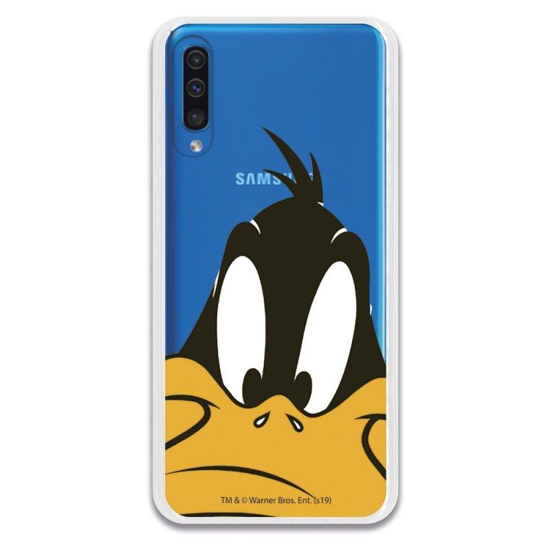 Funda Oficial Warner Bros Pato Lucas Transparente Looney Tunes para Samsung Galaxy A50