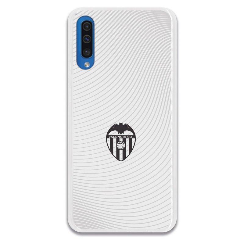 Funda Oficial Valencia CF del Valencia Escudo Negro Fondo Blanco para Samsung Galaxy A50