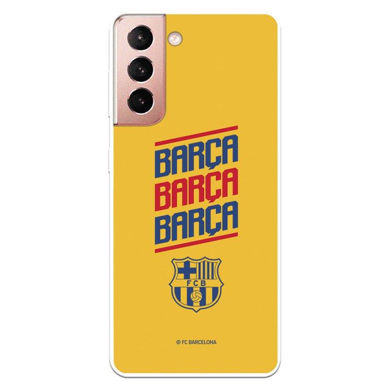 Funda Oficial FC Barcelona Del Barcelona Fondo Amarillo Para Samsung Galaxy S21