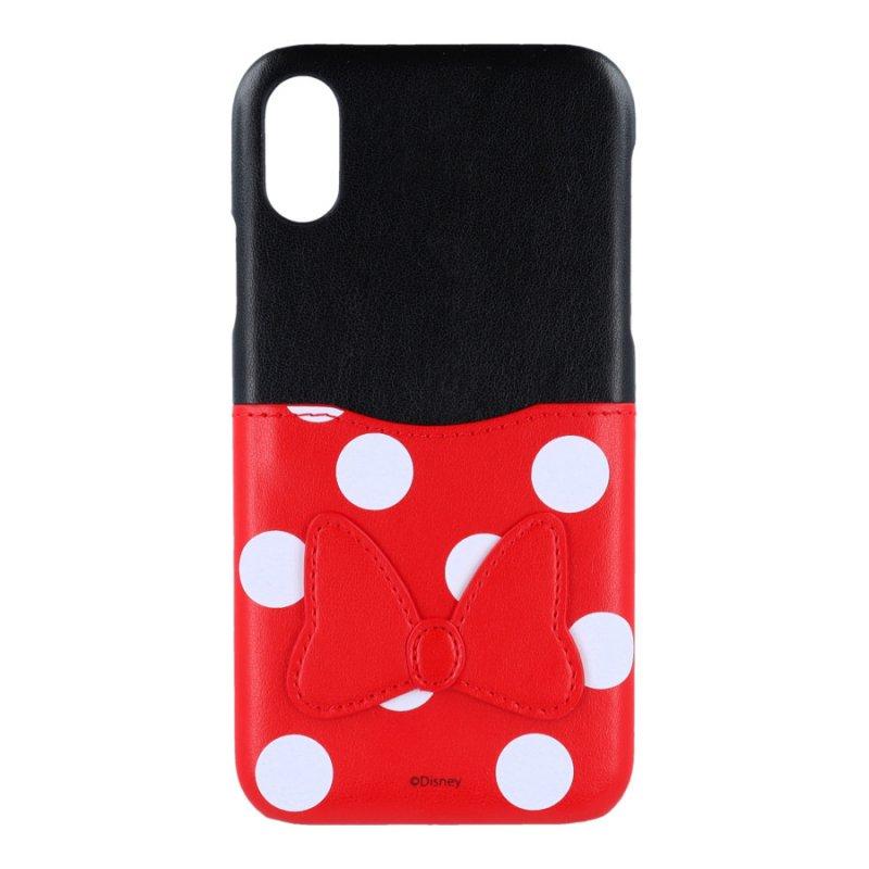 Funda Oficial De Disney Minnie Piel Con Tarjetero Clásicos Disney Para IPhone X