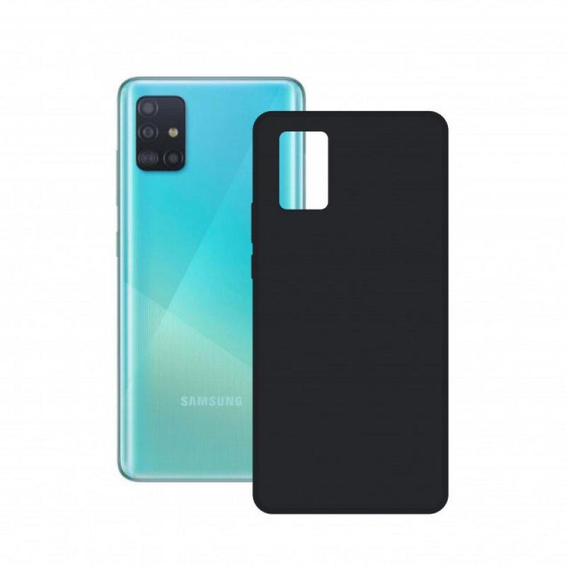 Mobile Tech Funda Silk Negra para Samsung Galaxy A52 5G